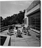 Paved Terrace At The Residence Of Mr. And Mrs Canvas Print