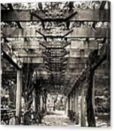 Pavillion Shade At Central Park Canvas Print
