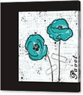 Pavot - S05-02a Canvas Print