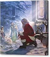 Santa Paying Homage Canvas Print