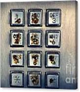 Payphone Keypad Canvas Print