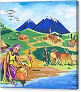 Paysage Du Nord Du Rwanda Canvas Print