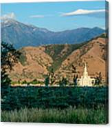 Payson Temple Mountains Canvas Print