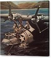 Pby 5 Loading At Pearl Harbor Canvas Print