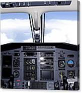 Pc 12 Cockpit Canvas Print