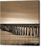 Pc Beach Pier Canvas Print