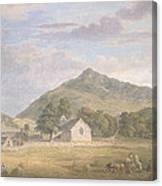 Haymaking At Dolwyddelan Canvas Print
