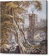 View Of The Old Welsh Bridge Canvas Print