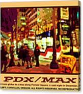 Pdx Max II Canvas Print