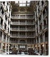 Peabody Library Baltimore Canvas Print