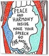 Peace And Harmony Canvas Print