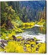Peace And Tranquility In The Heart Of Feather River, Quincy California Canvas Print