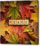 Peace-autumn Canvas Print