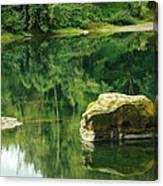Peace By The River Canvas Print