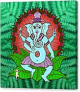 Peace Ganesh Dancing Canvas Print