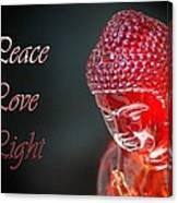 Peace Love Light Canvas Print