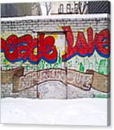 Peace Love Canvas Print