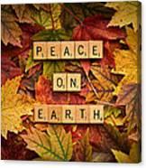 Peace On Earth-autumn Canvas Print