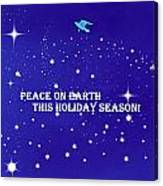 Peace On Earth Card Canvas Print