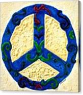 Peace Sign Canvas Print