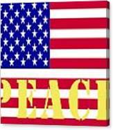 Peace The American Flag Canvas Print