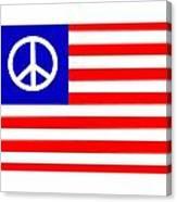Peace Usa Flag Canvas Print