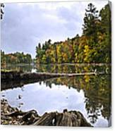 Peaceful Autumn Lake Canvas Print