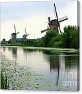 Peaceful Dutch Canal Canvas Print