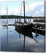 Peaceful Harbor Scene - Ct Canvas Print