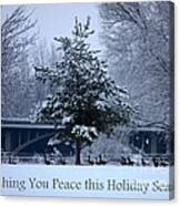Peaceful Holiday Card - Winter Landscape Canvas Print