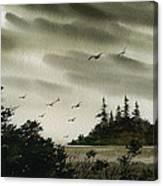 Peaceful Inland Cove Canvas Print
