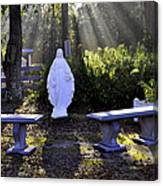 Peaceful Place To Pray With Mary Canvas Print
