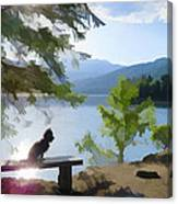 Peaceful Puppy Canvas Print