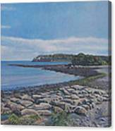 Peaceful View From Peaks Island Me Canvas Print