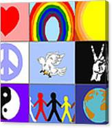 peaceloveunity Mosaic Canvas Print