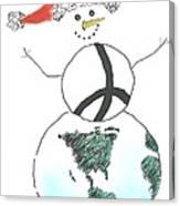 Peacemaker Snowman Canvas Print