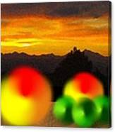 Peaches And Limes On A Colorado Mountain Top Canvas Print