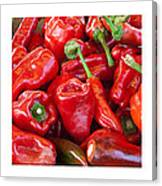 Peaches Peppers Peppers - Landscape Canvas Print