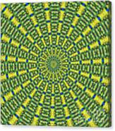 Peacock Feathers Kaleidoscope 2 Canvas Print