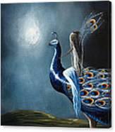 Peacock Princess By Shawna Erback Canvas Print