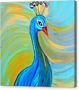 Peacock Vii Canvas Print