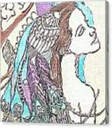 Peacock Woman 2 Canvas Print