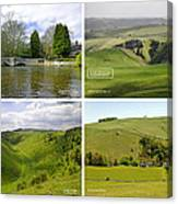 Peak District Collage 01-labelled Canvas Print