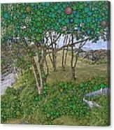 Dawn At Peaks Island Bay Canvas Print