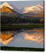 6m6530-a-peaks Reflected Touolumne Meadows  Canvas Print