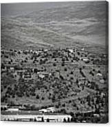 Peaks View From Prescott Black And White Canvas Print