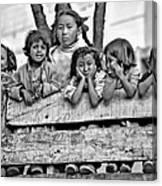 Peanut Gallery Monochrome Canvas Print