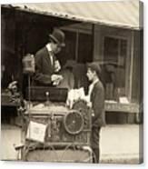 Peanut Vendor, 1910 Canvas Print