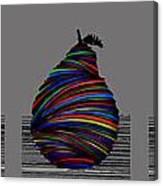 Pear 2005 Grey Canvas Print