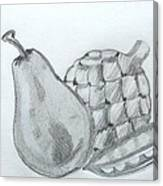 Pear Artichoke Snap Pea Canvas Print